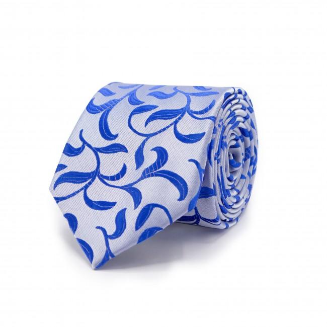 Stropdas Wit-blauw patroon 0473| GENTS.nl | Hoogste kwaliteit voor de laagste prijs