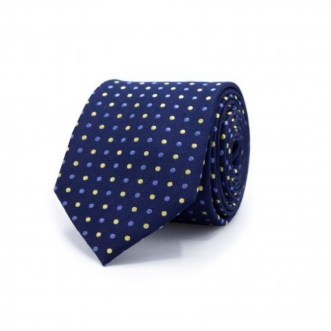 Stropdas blauw stip patroon 0480| GENTS.nl | Hoogste kwaliteit voor de laagste prijs
