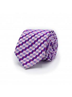 gents Stropdassen Stropdas patroon paars/roze 0484