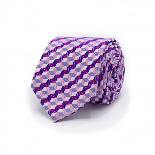 Stropdas patroon paars-roze 0484| GENTS.nl | Hoogste kwaliteit voor de laagste prijs