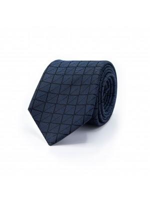Stropdas vierkant grijs-blauw 0490