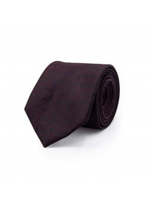 gents Stropdassen Stropdas vierkant grijs-rood 0491
