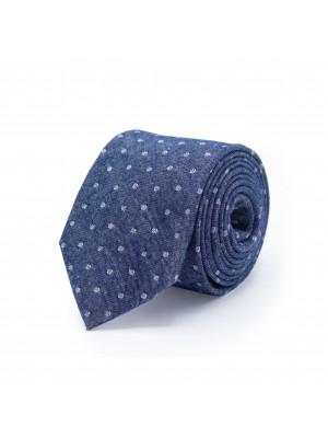 Stropdas zijde blauw 0498