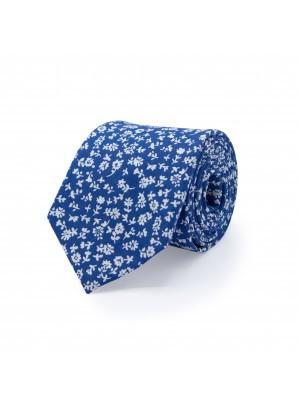 Stropdas zijde blauw 0501