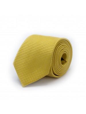 Stropdas zijde geel 0510