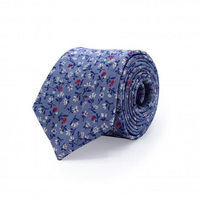 Stropdas zijde blauw 0516| GENTS.nl | Hoogste kwaliteit voor de laagste prijs