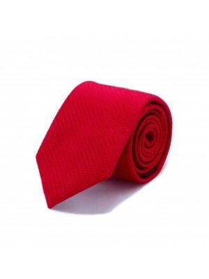 Stropdas zijde rood 0540