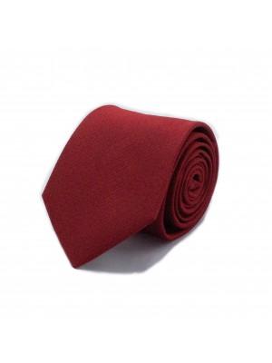 Stropdas zijde rood 0548