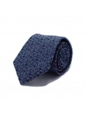 Stropdas zijde blauw 0550