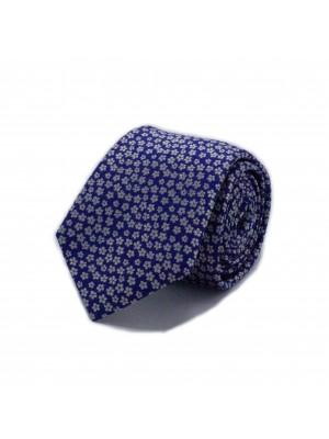 Stropdas zijde blauw 0554