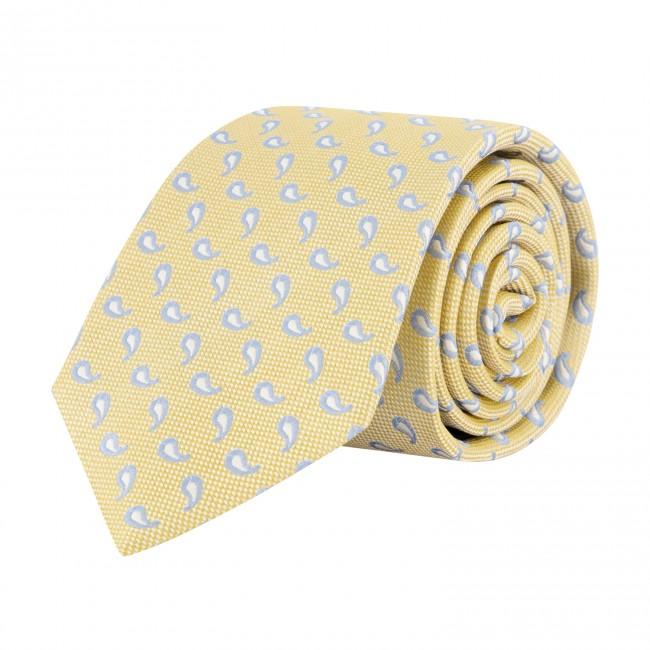 Stropdas zijde geel 0629| GENTS.nl | Hoogste kwaliteit voor de laagste prijs