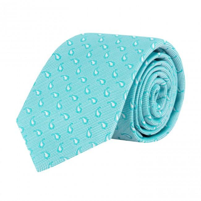 Stropdas zijde turquoise 0630| GENTS.nl | Hoogste kwaliteit voor de laagste prijs