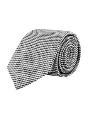 gents Stropdassen Stropdas zijde grijs 0650