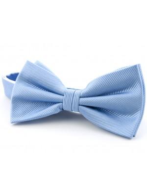 Vlinderstrik zijde blauw 0023