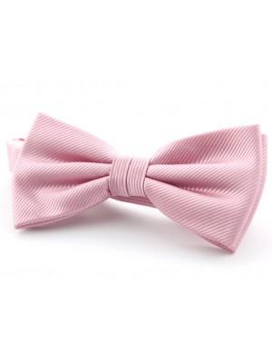 Vlinderstrik zijde roze 0029