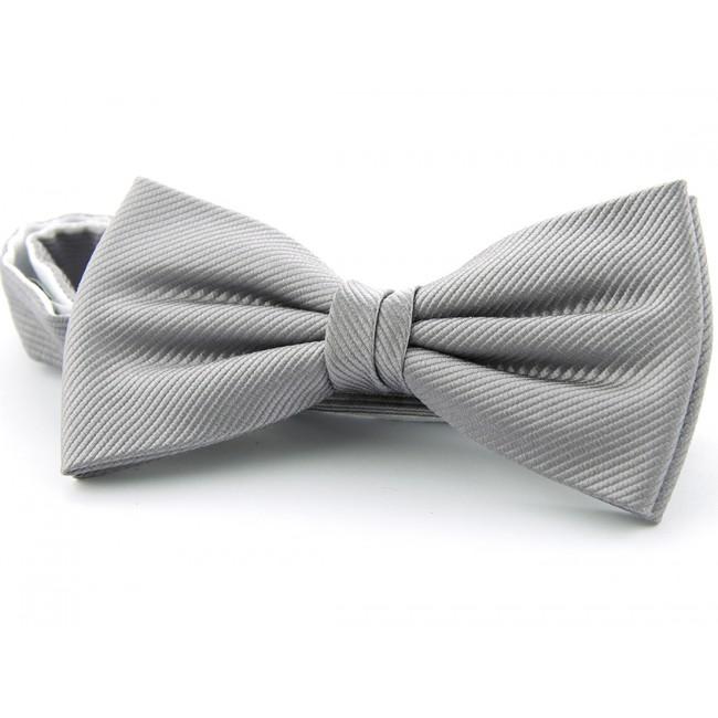 Vlinderstrik zijde zilver grijs 0031| GENTS.nl | Hoogste kwaliteit voor de laagste prijs