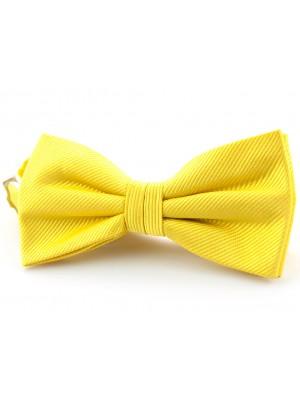 Vlinderstrik zijde geel 0039