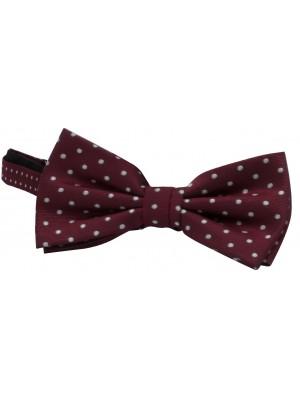 no label Strikken Bow-tie zijde dots 0059