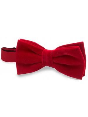 gents Strikken strik velvet rood 0064