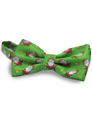 gents Strikken strik kerstman groen 0072