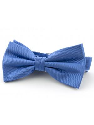 Strik zijde midden blauw 0078