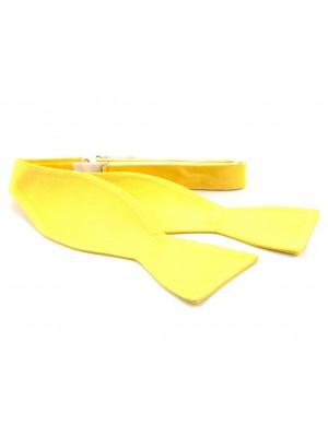Zelfstrik zijde geel 0149
