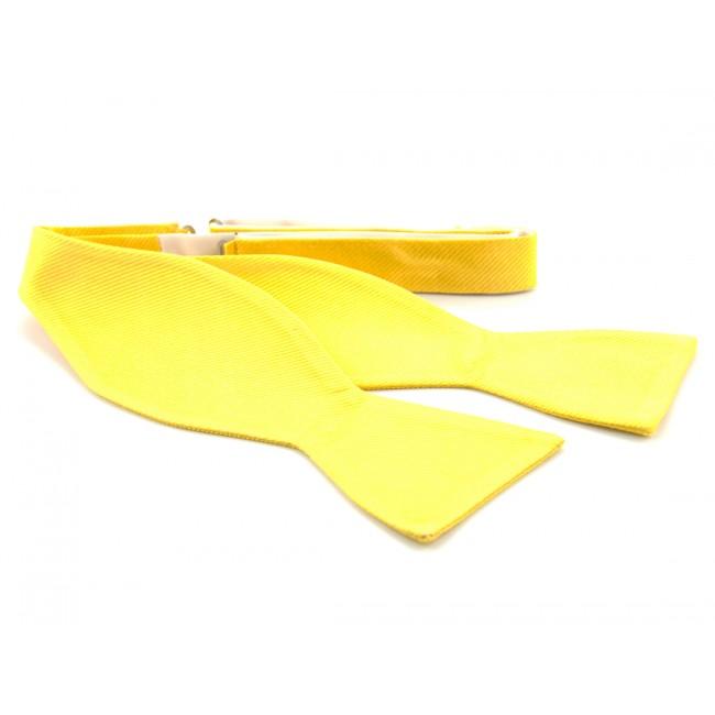 Zelfstrik zijde geel 0149| GENTS.nl | Hoogste kwaliteit voor de laagste prijs