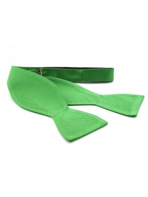 Zelfstrik zijde groen 0152