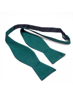 Zelfstrik zijde groen 0165