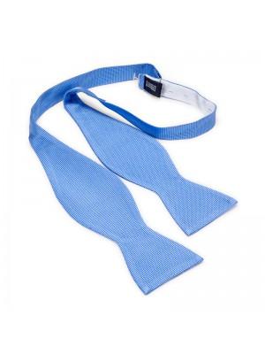 Zelfstrik zijde lichtblauw 0167