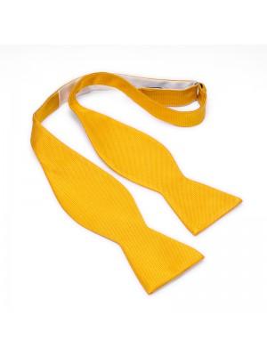 Zelfstrik zijde geel 0175