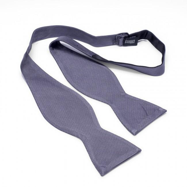 Zelfstrik zijde grijs 0177| GENTS.nl | Hoogste kwaliteit voor de laagste prijs