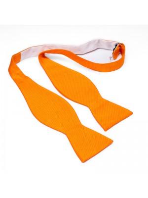 Zelfstrik zijde oranje 0178