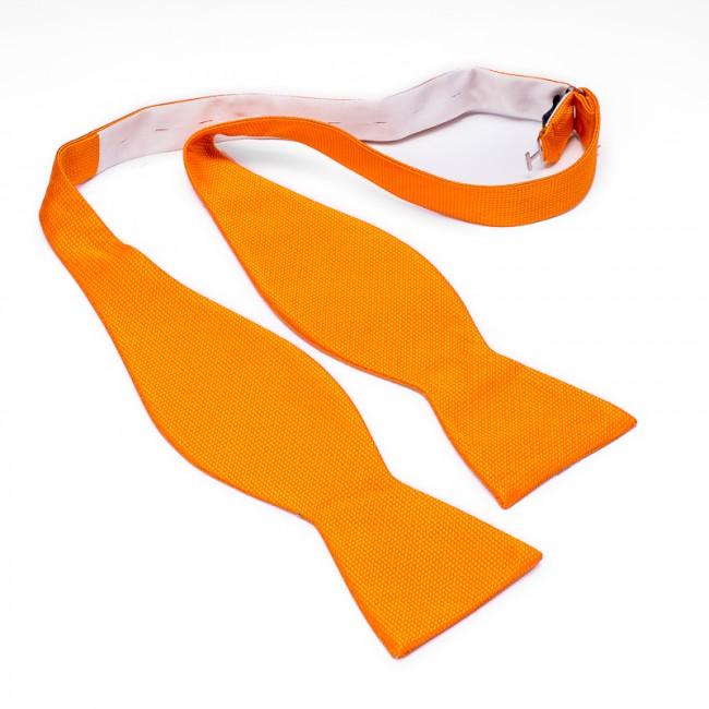 Zelfstrik zijde oranje 0178| GENTS.nl | Hoogste kwaliteit voor de laagste prijs