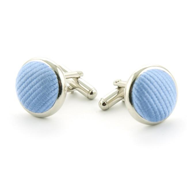 Manchetknoop zijde blauw 0010| GENTS.nl | Hoogste kwaliteit voor de laagste prijs