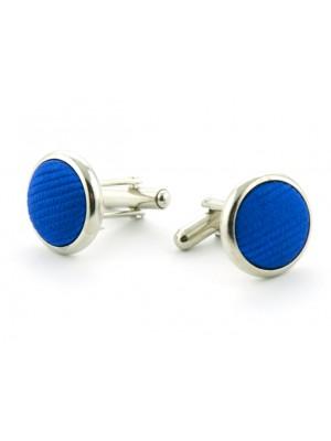 Manchetknopen zijde cobalt 0011