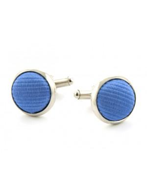 Manchetknoop zijde midden blauw 0049