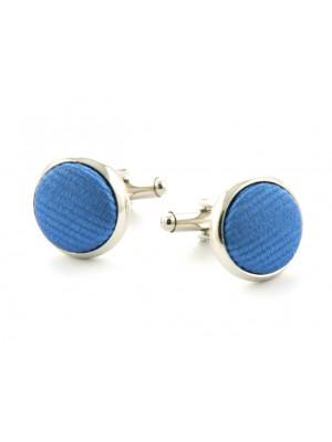 Manchetknopen zijde inleg Blue 0053| GENTS.nl | Hoogste kwaliteit voor de laagste prijs