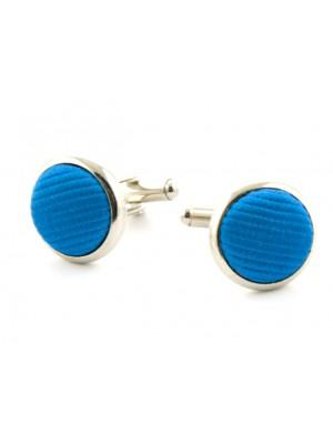 Manchetknopen zijde inleg blauw 0058