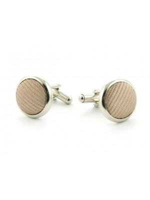 Manchetknopen zijde inleg khaki 0062| GENTS.nl | Hoogste kwaliteit voor de laagste prijs