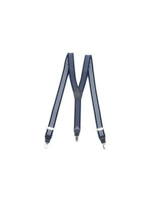 Bretelselastiek streep blauw wit 0006| GENTS.nl | Hoogste kwaliteit voor de laagste prijs