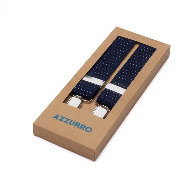 Bretels elastiek stip blauw wit 0008| GENTS.nl | Hoogste kwaliteit voor de laagste prijs