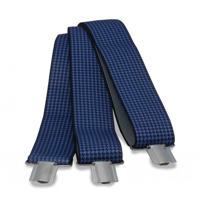 Bretels pied-de-poule blauw 0009| GENTS.nl | Hoogste kwaliteit voor de laagste prijs