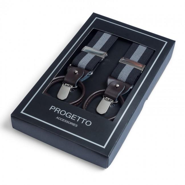 Bretels zwartgrijs 0029| GENTS.nl | Hoogste kwaliteit voor de laagste prijs