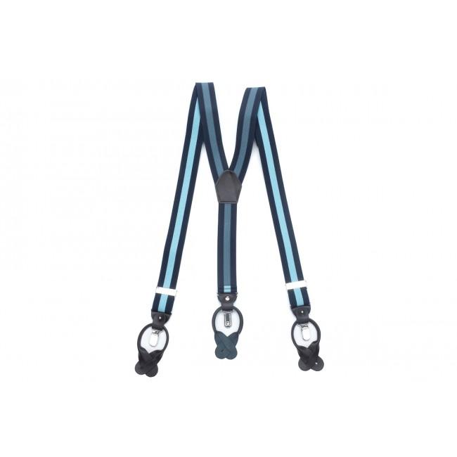 Bretels navy-lichtblauw 0031| GENTS.nl | Hoogste kwaliteit voor de laagste prijs
