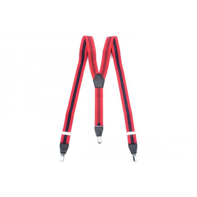 Bretels rood-navy 0032| GENTS.nl | Hoogste kwaliteit voor de laagste prijs