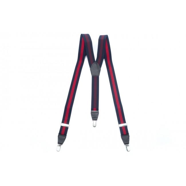 Bretels navy-rood 0033| GENTS.nl | Hoogste kwaliteit voor de laagste prijs