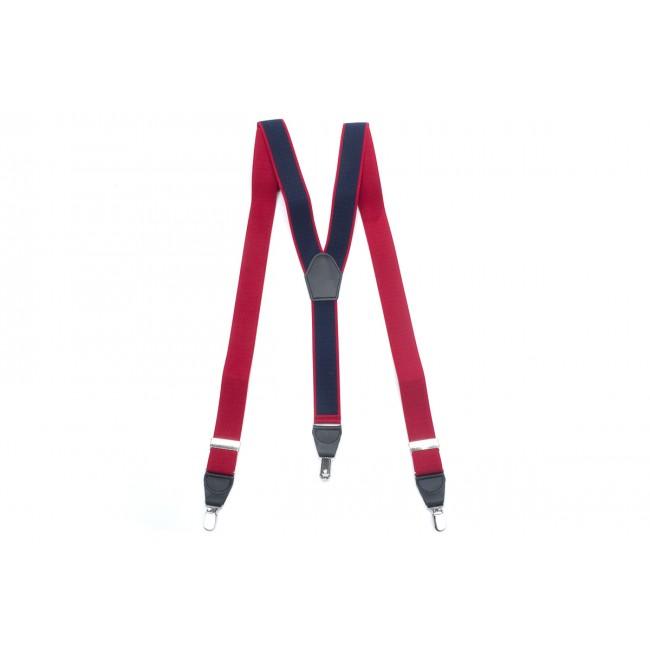 Bretels rood navy 0038| GENTS.nl | Hoogste kwaliteit voor de laagste prijs