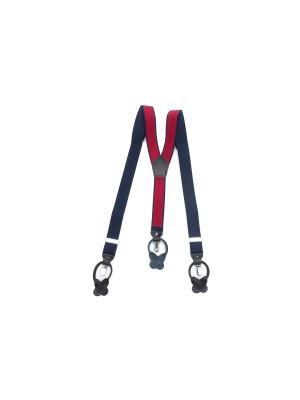 Bretels rood navy stip 0041| GENTS.nl | Hoogste kwaliteit voor de laagste prijs
