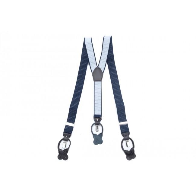 Bretels navy lichtblauw stip 0042| GENTS.nl | Hoogste kwaliteit voor de laagste prijs